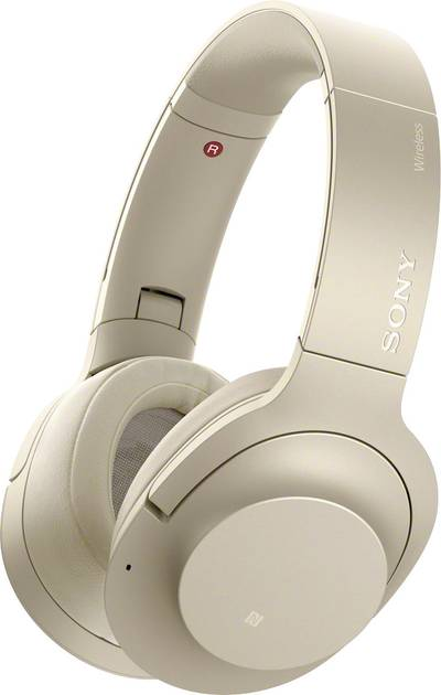 Image of Bluetooth® (1075101) Hi-Fi Headphones Sony WH-H900N Over-the-ear Foldable, High-res audio, NFC Gold