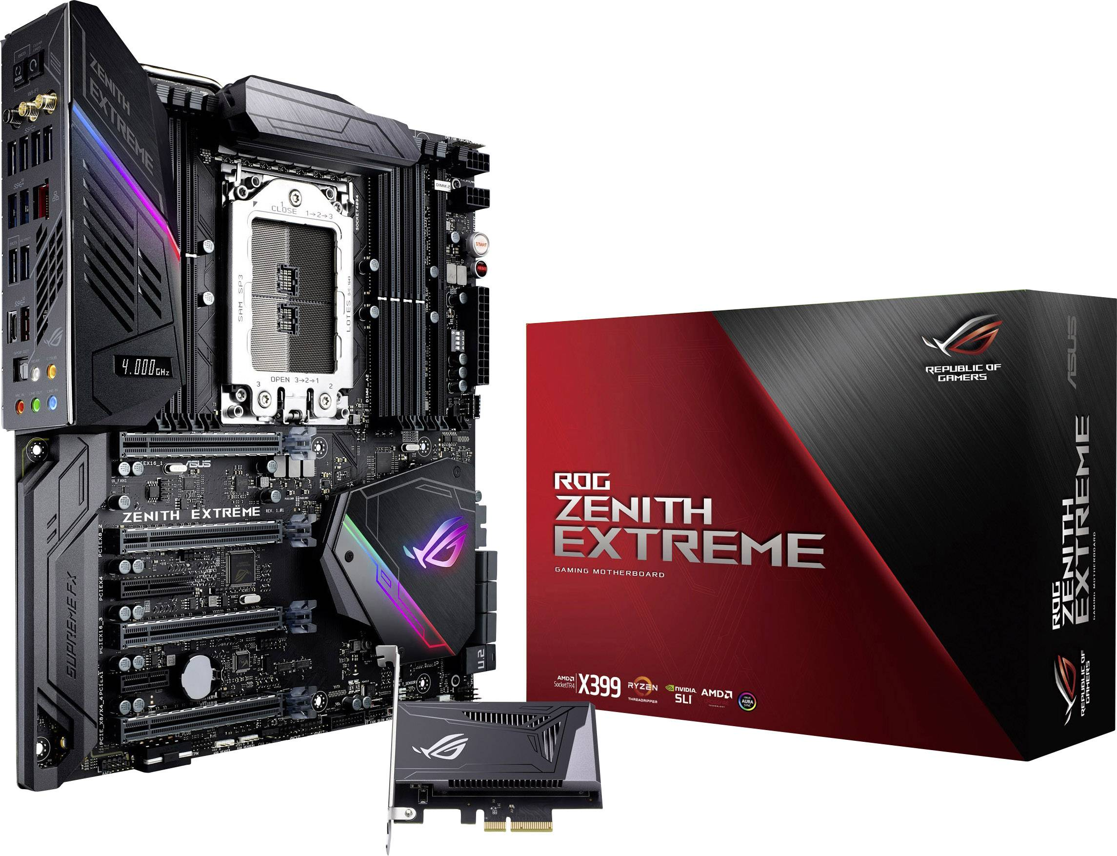Asus ROG Zenith Extreme Motherboard PC base AMD TR4 Form