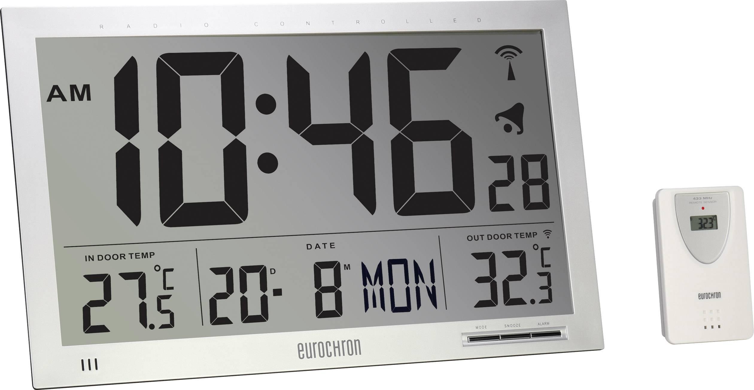 eurochron jumbo  Eurochron EFWU Jumbo 102 Radio Wall clock 370 mm x 230 mm x 30 ...