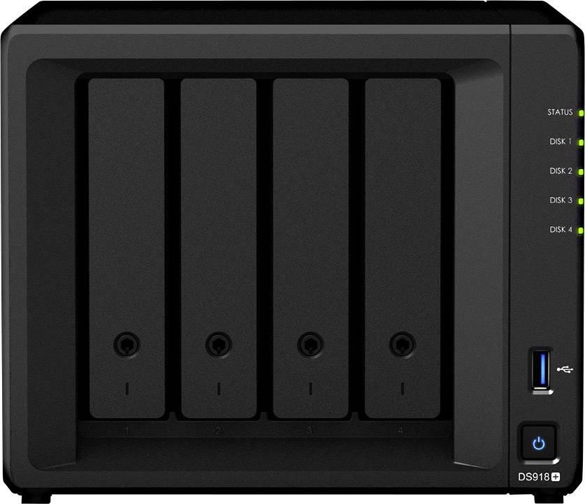 Synology DiskStation DS918+ NAS server casing 4 Bay 2x M2