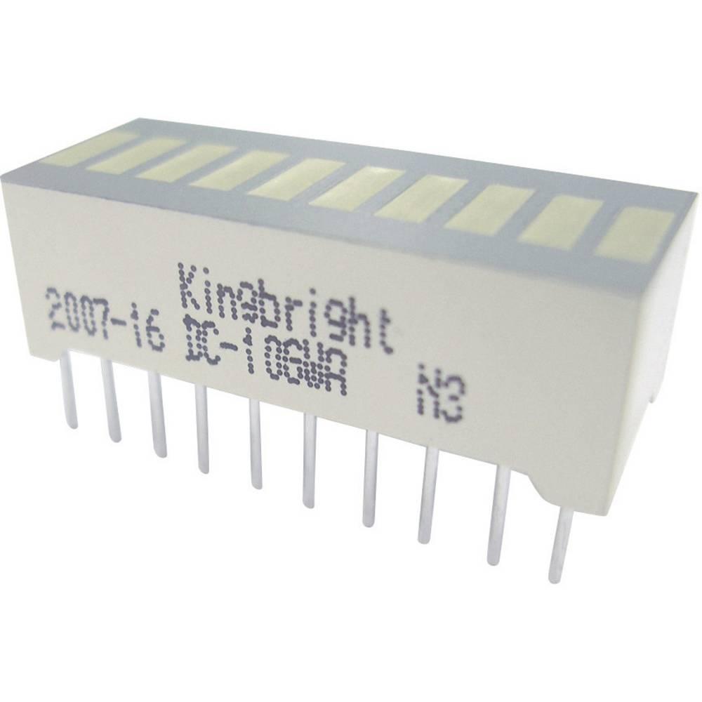 LED grafični prikazovalnik, 10-delni, zelena (Š x V x G) 25.4 x 10.16 x 8 mm Kingbright DC-10GWA