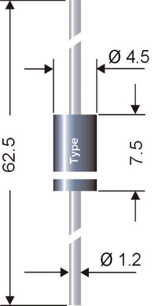 SCHOTTKY-dioda SEMIKRON SB 160-Semikron I(F)(AV) 1 AUrrm (V)60 V