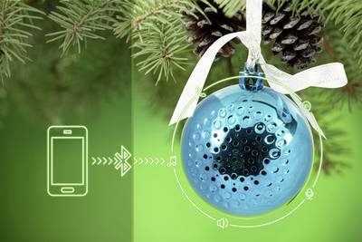 Image of Technaxx Christmas Speaker Bluetooth speaker Blue