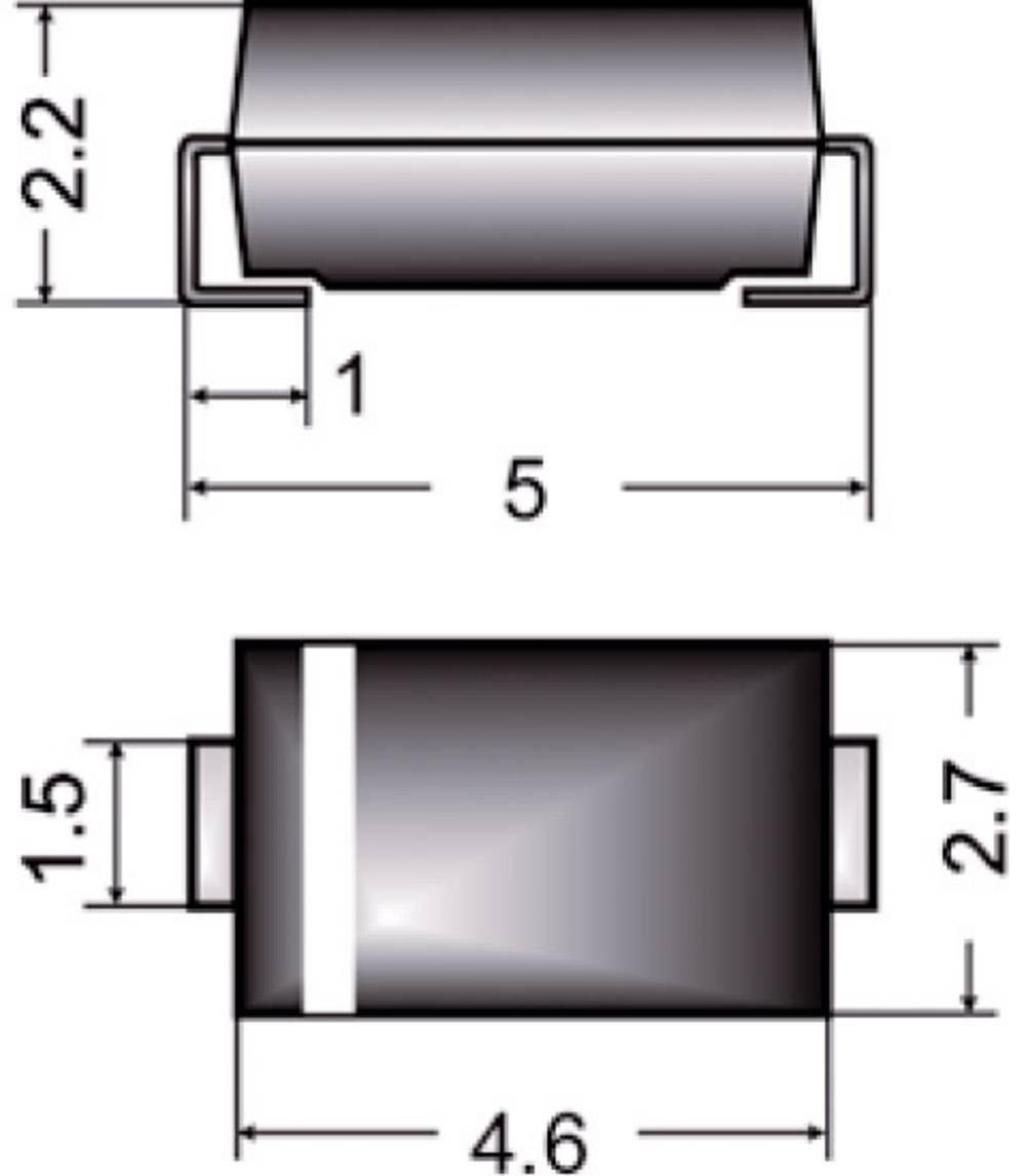 Zener dioda Z1SMA27 vrsta kućišta (poluvodič) DO-214AC Semikron Zener-napon 27 V snaga max. P(tot) 1 W