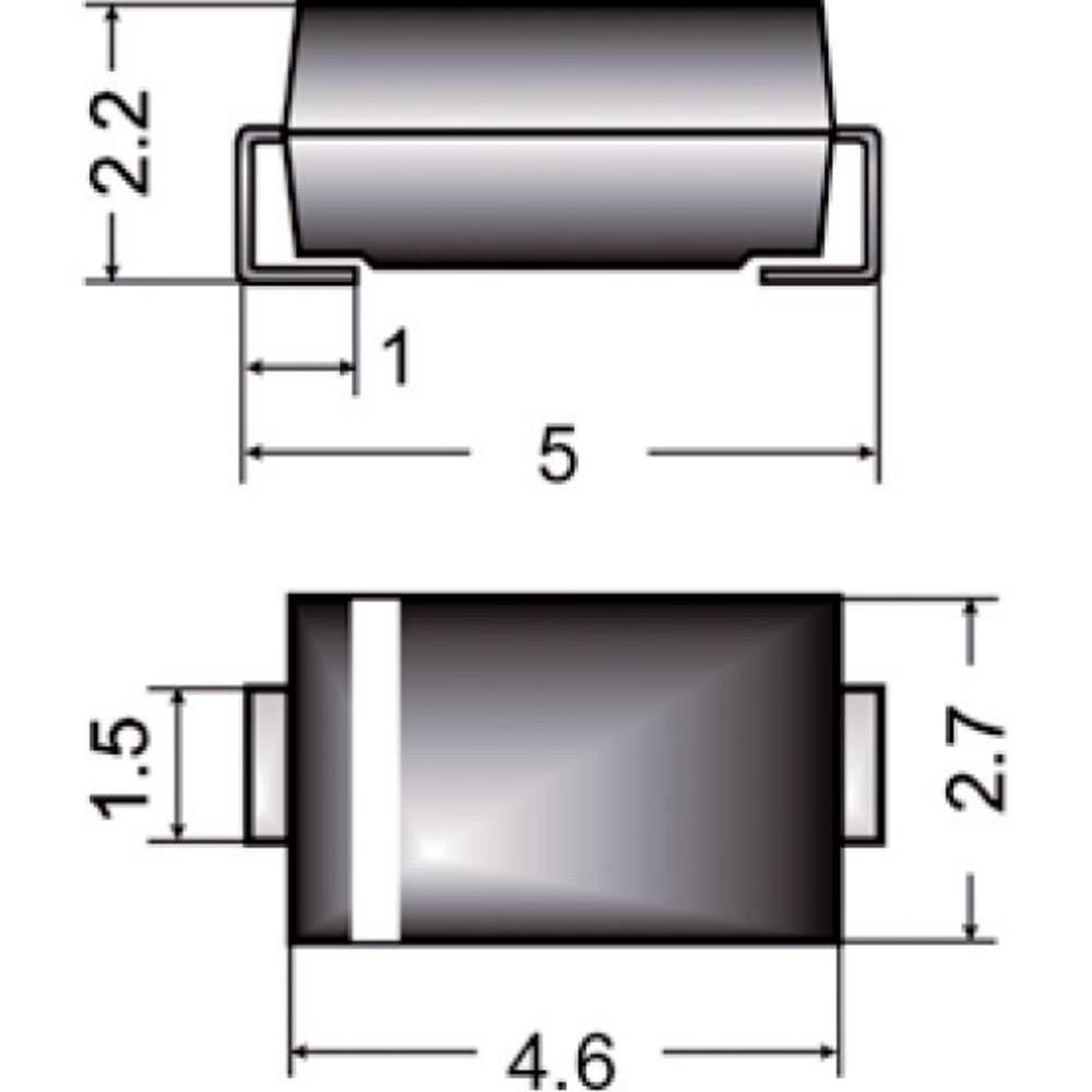Zener dioda Z1SMA6,2 vrsta kućišta (poluvodič) DO-214AC Semikron Zener-napon 6.2 V snaga max. P(tot) 1 W