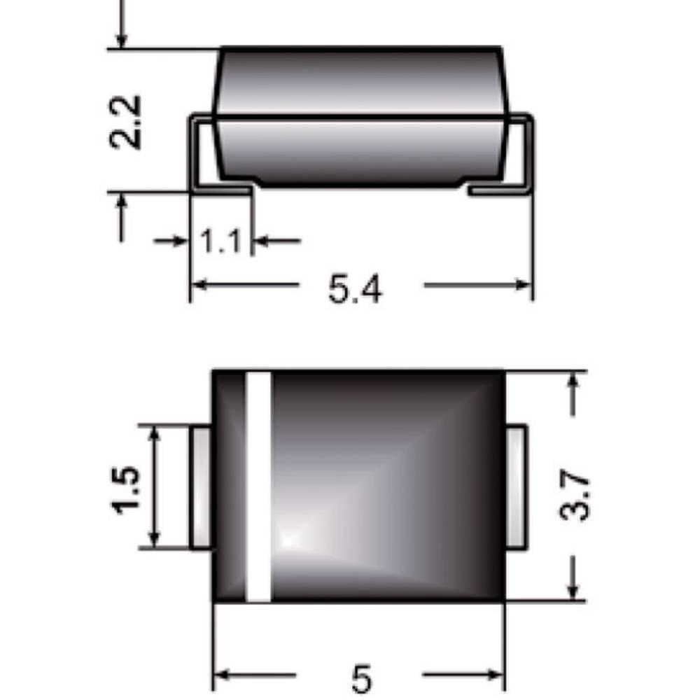Standardna dioda Semikron S2G DO-214AA 400 V 2 A
