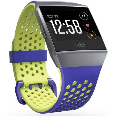 FitBit Ionic Sport Blue Yellow Small Replacement wrist strap Size (XS – XXL)=S Cobalt-blue, Lime
