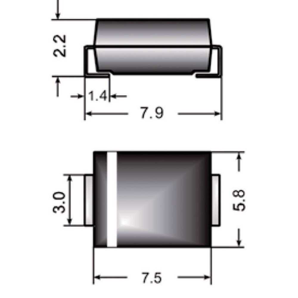 Hitra Si-usmerniška dioda Semikron FR3K DO-214AB 800 V 3 A