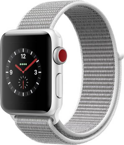 Image of Apple Watch Series 3 Cellular 38 mm Aluminium Silver Sport strap White-silver