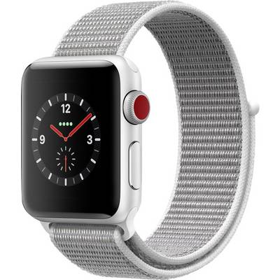 Compare prices with Phone Retailers Comaprison to buy a Apple Watch Series 3 Cellular 38 mm Aluminium Silver Sport strap White-silver