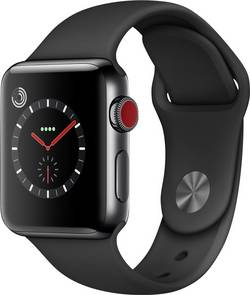 Apple Watch Series 3 Cellular 38 mm Stainless steel Space Black cheapest retail price