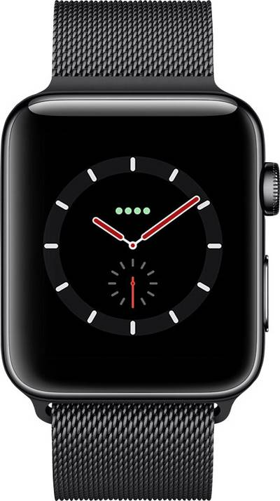 Apple Watch Series 3 Cellular 42 mm Stainless steel Space Black cheapest retail price