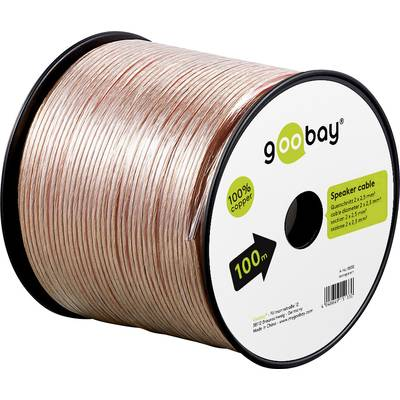 Goobay 15133 Speaker cable 2 x 2.50 mm² Transparent 100 m