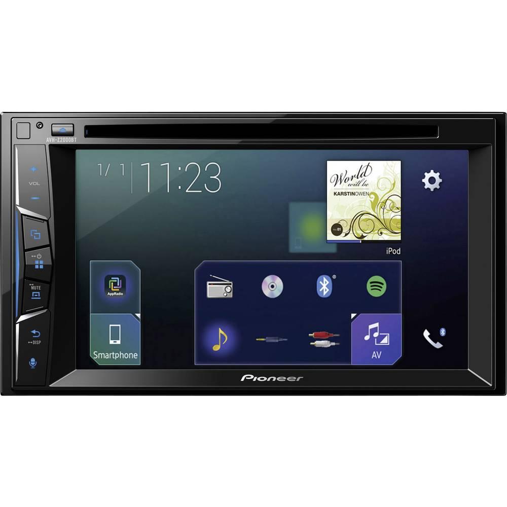 Dobbelt-DIN Moniceiver Pioneer AVH-Z2000BT Tilslutning til bagkamera, AppRadio, Håndfrit Bluetooth®-system