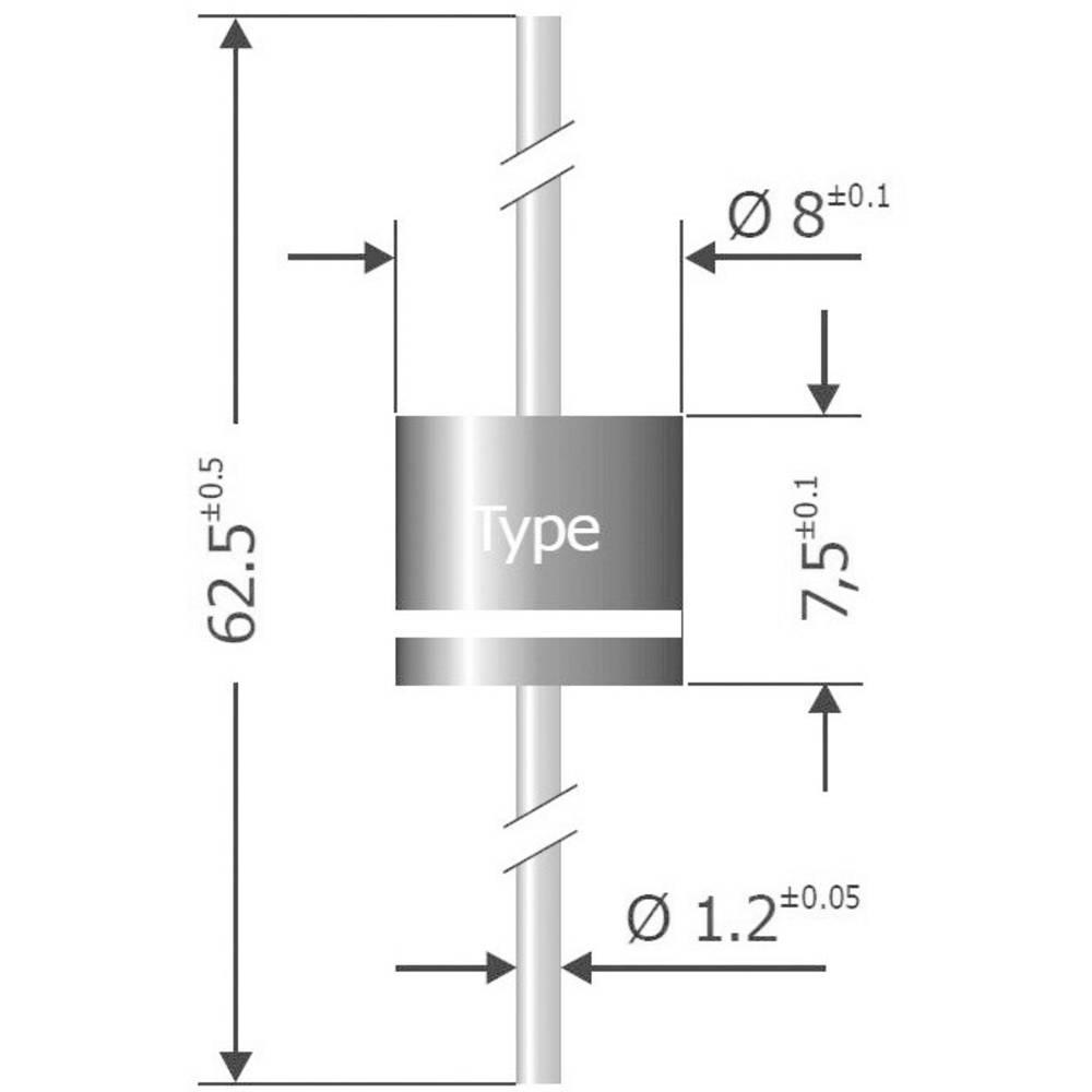 Dioda SEMIKRONR Semikron P 1000 K kućište Ĺ 8 x 7,5 mmI(F)(AV) 10 A Diotec