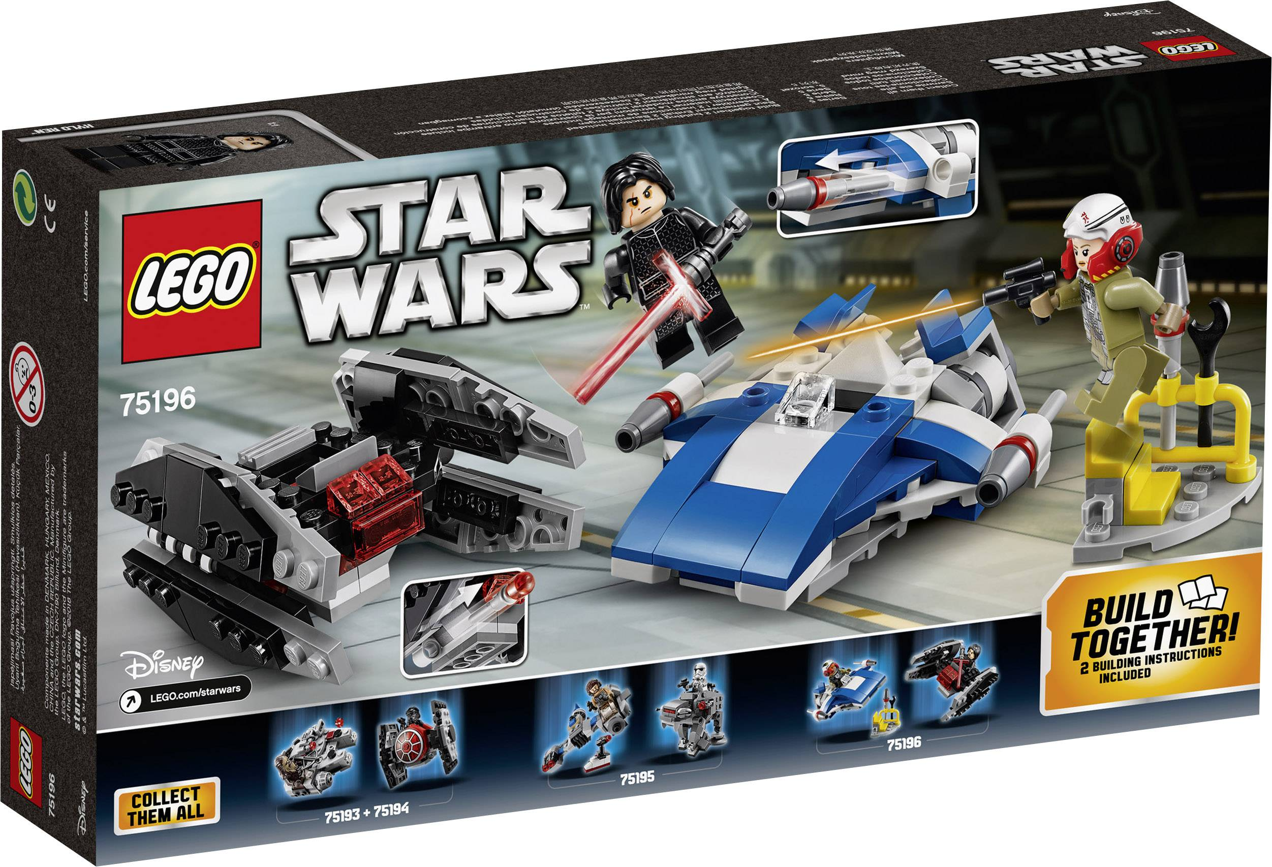 Lego Star Wars 75196 A Wing Vs Tie Silencer Micro Fighter