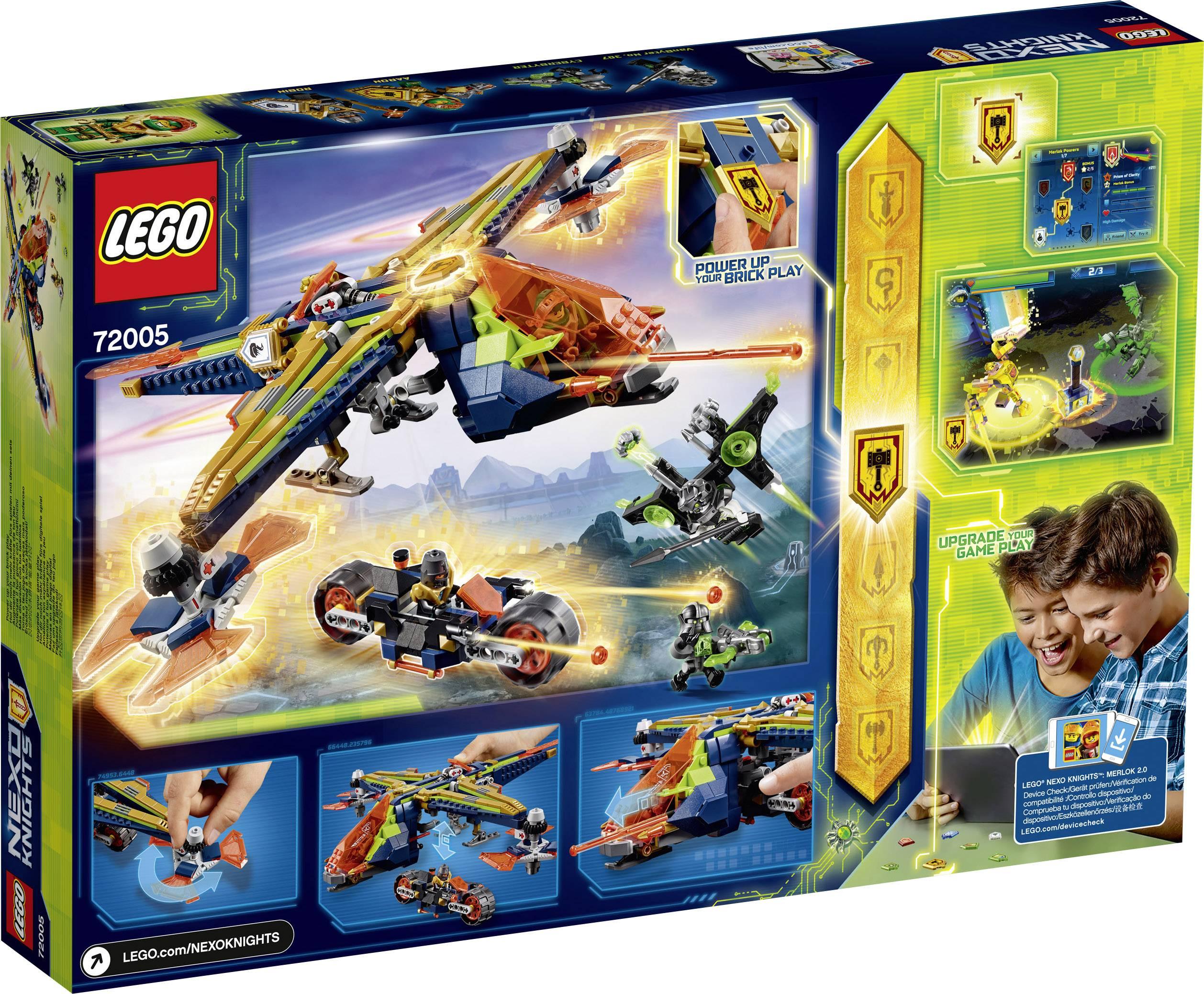 Lego Mini Figure Nexo Knights Aaron with Manic Pumpkin Power Shield 72005
