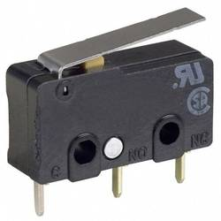 Mikrokontakt 125 V/AC 0.1 A 1 x On/(On) Omron SS-01GLD IP40 Tastende 1 stk