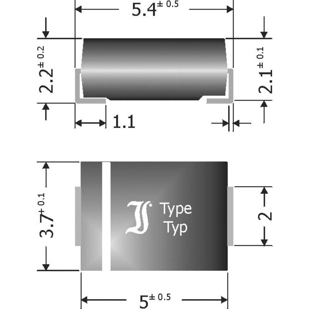 Schottky-barrier usmerniška dioda Diotec SK54 DO-214AA 40 V 5 A