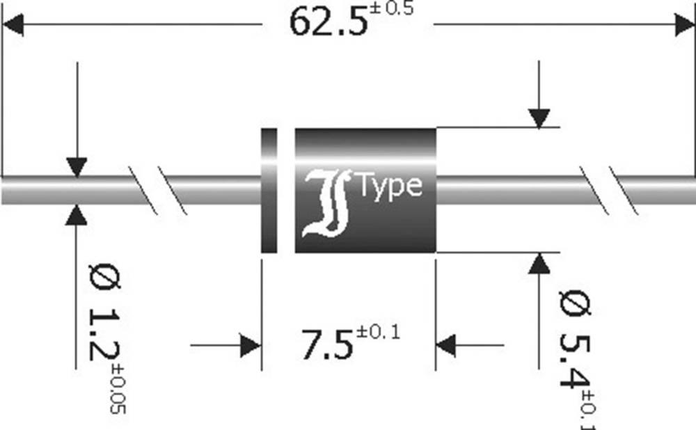 Diotec-Usmjerivač diode SB840, kućište 5.4x7.5, I(F) 8 A, povratni napon U(R) 40 V