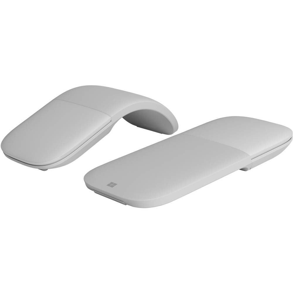 microsoft surface arc mouse bluetooth mouse platinum grey from. Black Bedroom Furniture Sets. Home Design Ideas