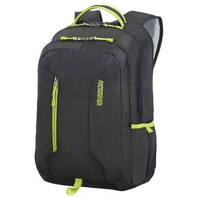 Image of American Tourister Laptop backpack URBAN GROOVE Suitable for max: 39,6 cm (15,6) Black, Lime