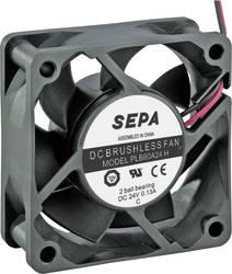 Aksial ventilator 24 V/DC 36.7 m³/h (L x B x H) 60 x 60 x 25 mm SEPA PLB60A24SE16A