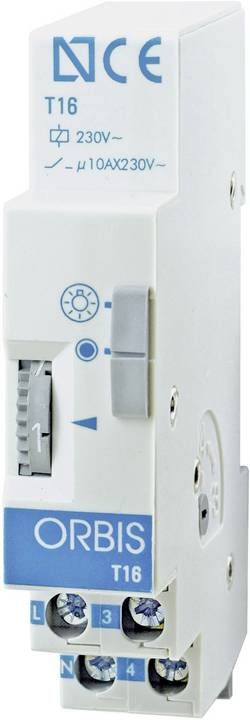 Treppenhaus-Lichtautomat ORBIS Zeitschalttechnik T-16 230 V/AC 45 s - 7 min 1 stk