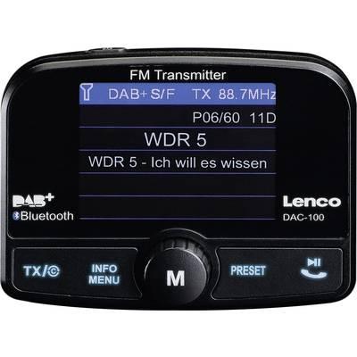 Lenco DAC-100 DAB+ receiver Bluetooth audio streaming, Handsfree , Suction cup