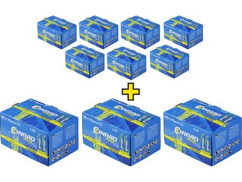 AA batterij (penlite) Conrad energy Alkaline 1.5 V 240 stuks