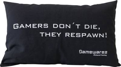 Image of Cushion GAMEWAREZ GAMERS DONT DIE, THEY RESPAWN! Black