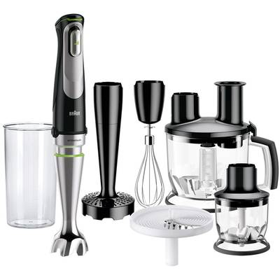 Braun MQ 9087X Hand-held blender 1000 W with mixing jar, with blender attachment Black, Stainless steel