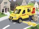 Junior Kit Parcel Service vehicle with figure kit