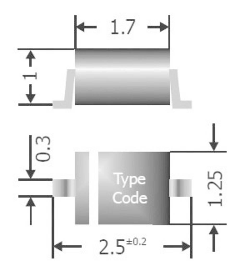 Univerzalna Silicijskia diodaDiotec I(F)(AV) 150 mA, napon(U) 75 V 1 N 4148 WS