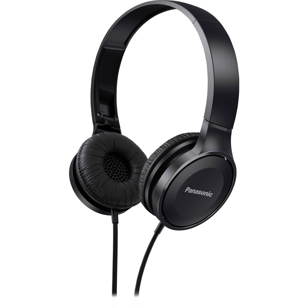 Panasonic Rp Hf100me Travel Headphones On Ear Foldable Headset Hf Zipper Universal Earphone Black