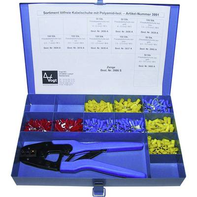 Ring terminal set 0.50 mm² 6 mm² Red, Blue, Yellow Vogt Verbindungstechnik 3991 1001 pc(s)