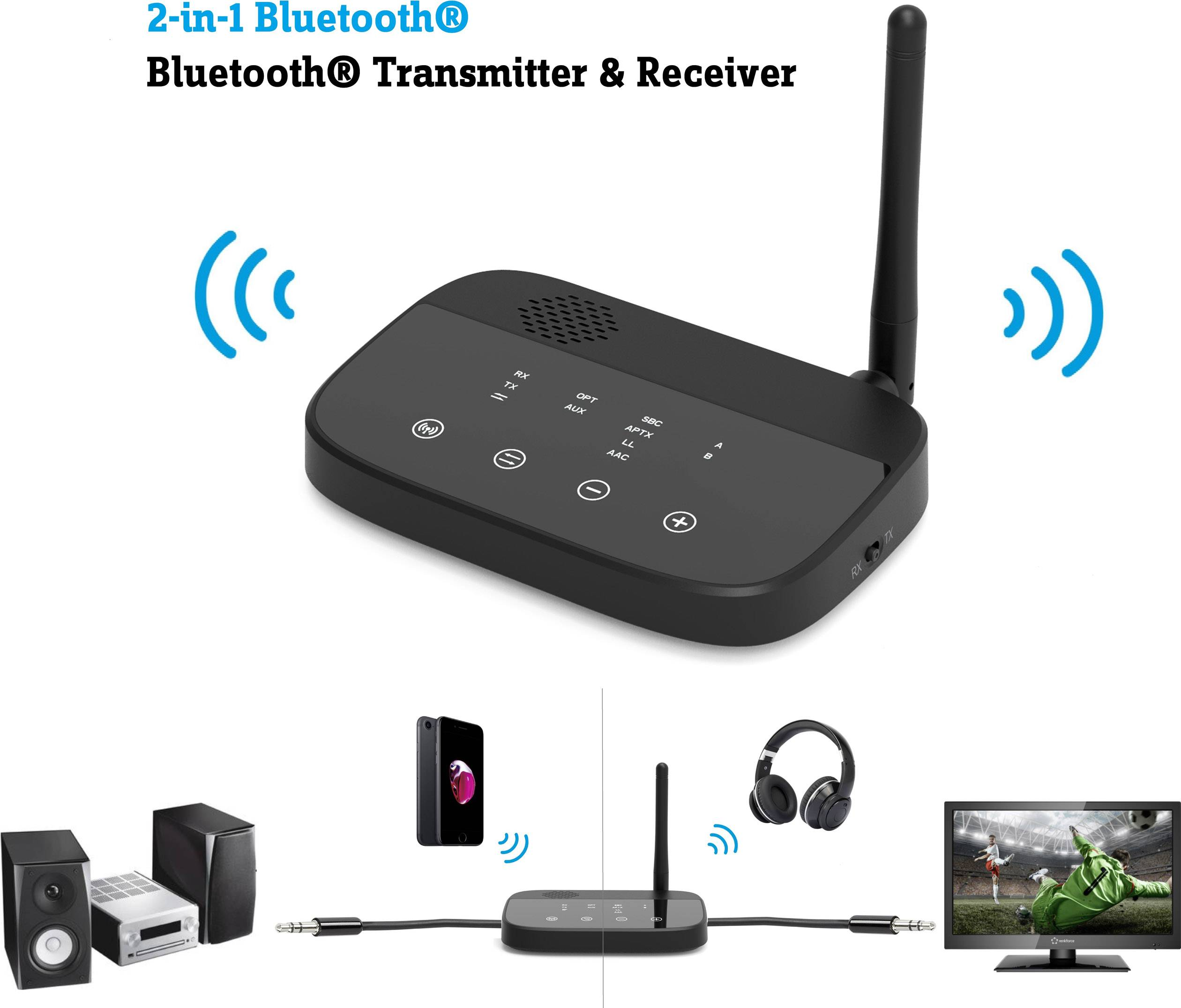 Renkforce BTHP-100 Bluetooth® audio transmitter/receiver