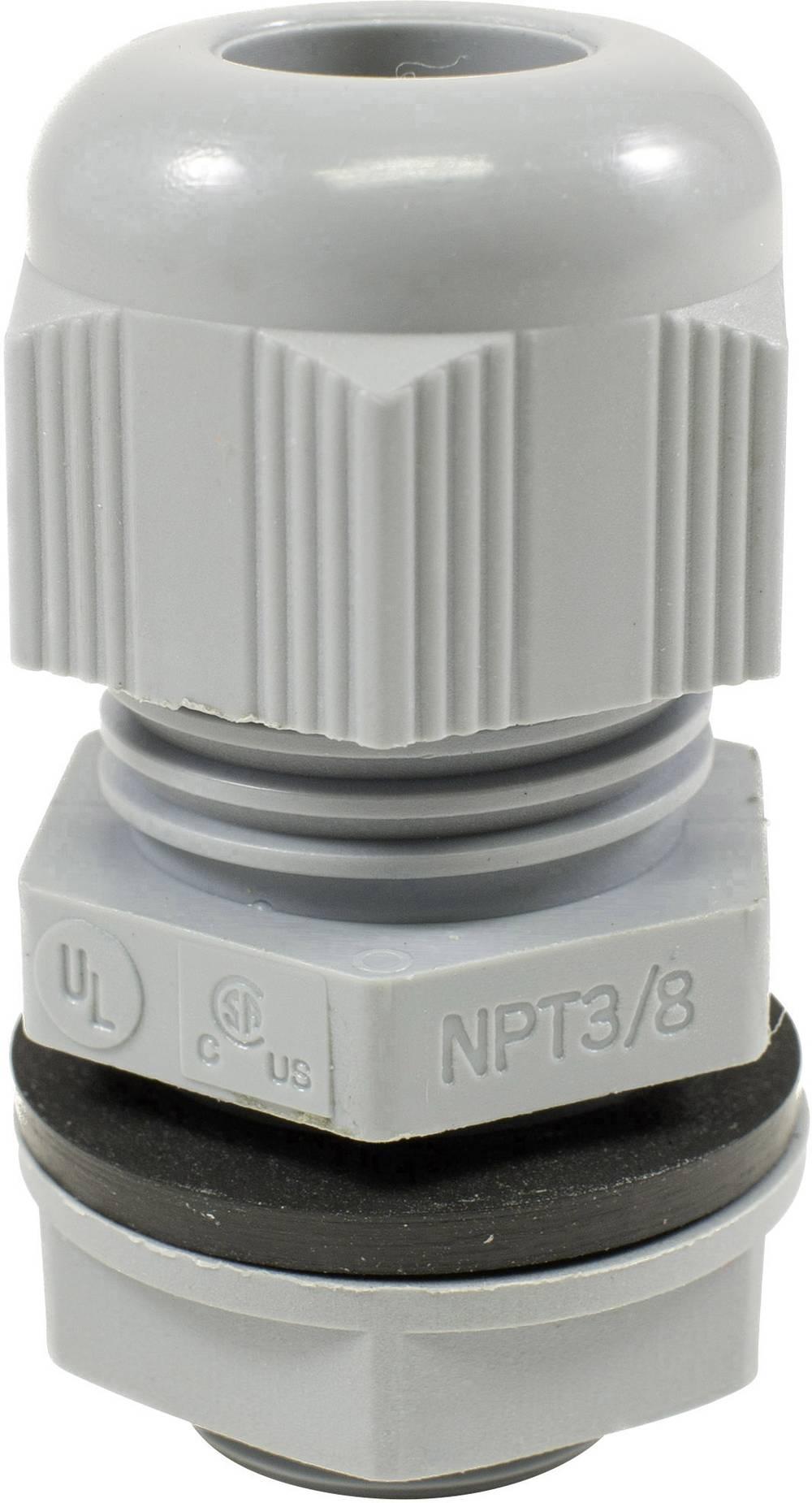Kabelförskruvning AlphaWire PMC12 SL080 Polyamid Skiffergrå 1 st