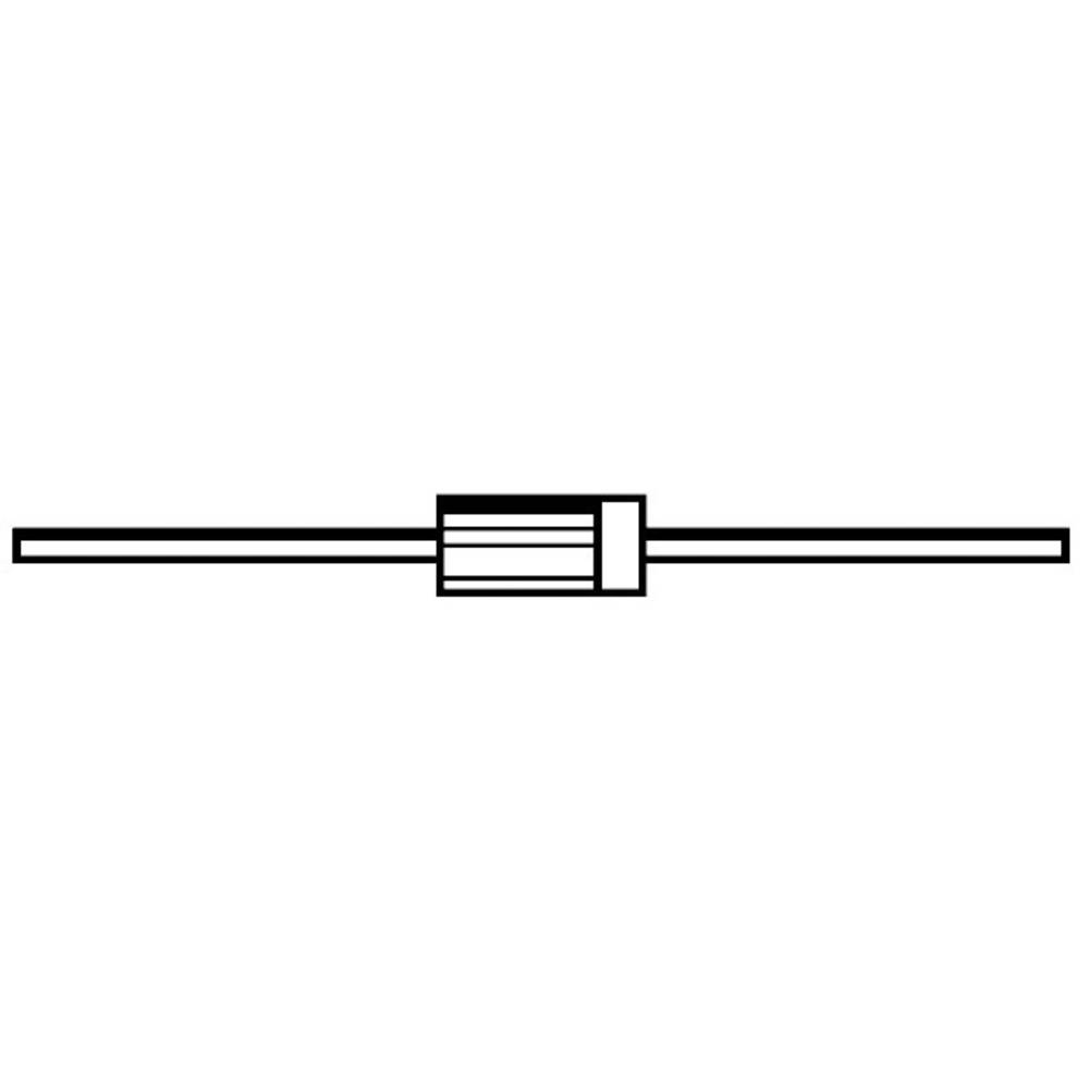 Zener dioda ZPY6,2V vrsta kućišta (poluvodič) DO-41 Diotec Zener-napon 6.2 V snaga max. P(tot) 1.3 W