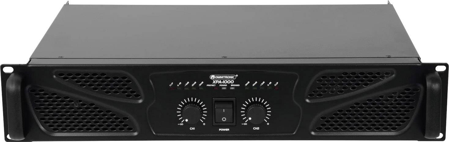 Omnitronic XPA-1000 PA amplifier RMS power per channel (at 4 Ohm