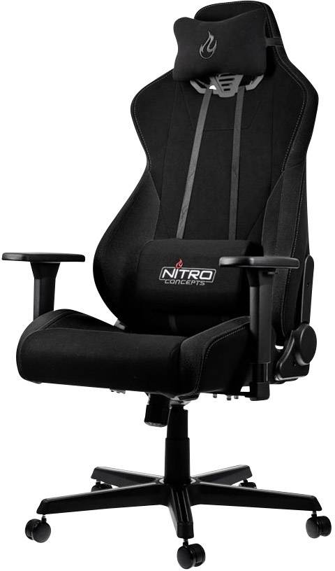Image result for NITRO CONCEPTS S300 STEALTH BLACK GAMING CHAIR