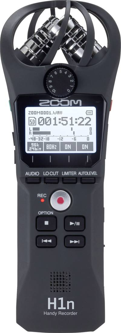 Portable audio recorder Zoom H1n Black