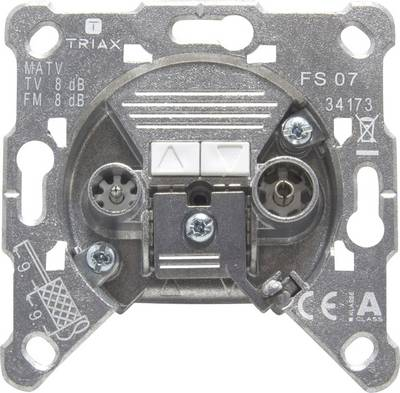 Image of Antenna socket FM, TV Triax FS 07 Flush mount Non-