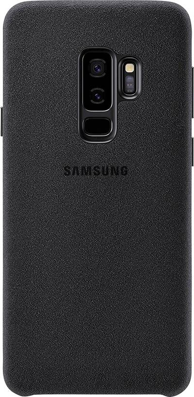 Image of Samsung Alcantara Cover Back cover Compatible with (mobile phones): Samsung Galaxy S9+ Black