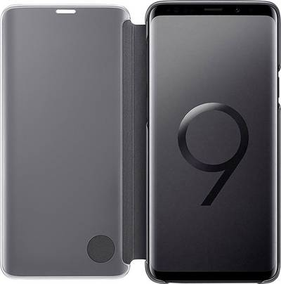 Image of Samsung Clear View Back cover Compatible with (mobile phones): Samsung Galaxy S9+ Black
