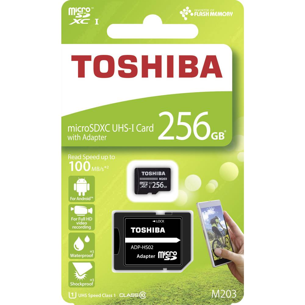 Toshiba M203 microSDXC card 256 GB Class 10, UHS-I incl. SD adapter