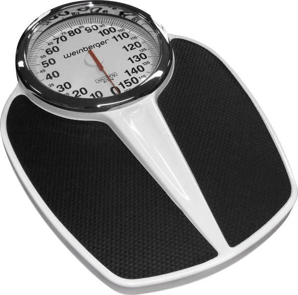 Mebus Analog Bathroom Scales Weight Range=150 Kg Black