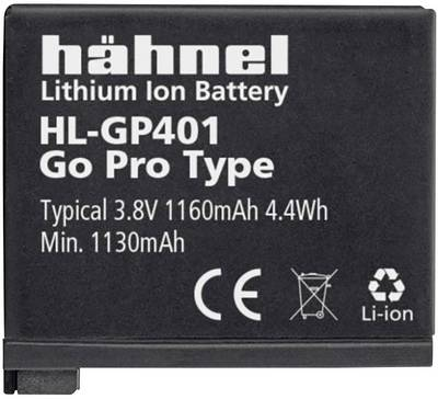 Image of Camera battery Haehnel replaces original battery AHDBT-401, 3661-1227 3.8