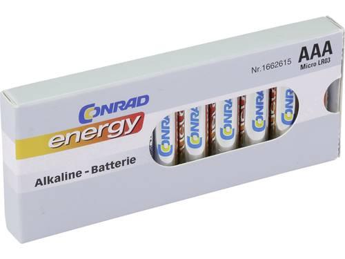 AAA batterij (potlood) Conrad energy LR03 Alkaline 1.5 V 10 stuks