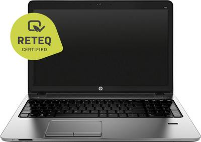 "Image of HP ProBook 455 G3 Laptop (refurbished) 39.6 cm (15.6 "") AMD A4 4 GB 500 GB HDD ATI Radeon R3 Windows® 10 Pro Black"